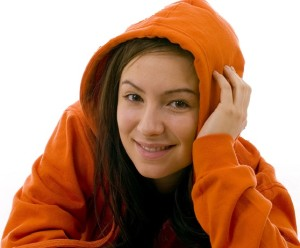 Meditation for ADHD. Wearing a hoodie helps